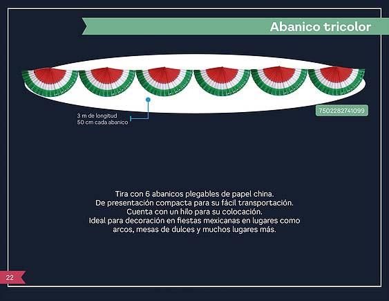 49 ABANICO TRICOLOR