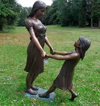 48 Life-Size-Garden-Bronze-Statues-Mothe