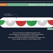 35 ABANICO TRICOLOR SECCIONES