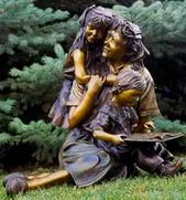 49 Life-size-garden-bronze-vintage-sculp