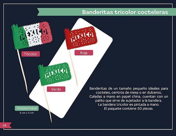 33 BANDERITAS TRICOLOR