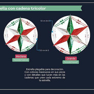 31 ESTRELLA CON CADENA TRICOLOR