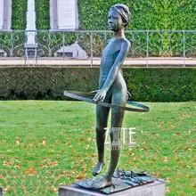32 Garden-outdoor-life-size-bronze-girl-