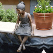 36 Hand-carved-copper-sitting-girl-sculp