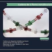 12 CADENA DE CUATRO FLORES