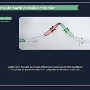 9 CADENA DE BARRIL METALICA TRICOLOR