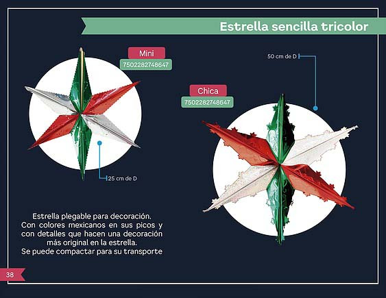 32 ESTRELLA SENSILLA TRICOLOR