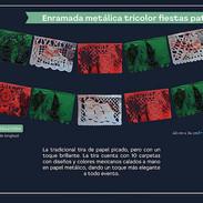4 ENRAMADA METALICA TRICOLOR