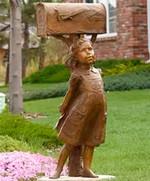 29 Garden-Decor-Bronze-Girl-Artsy-Mailbo