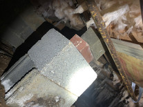 Bricks holding up floor