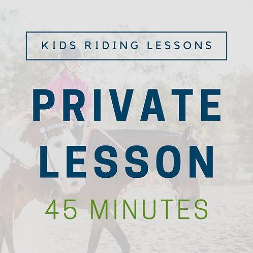 Kids Private Lesson (45min)