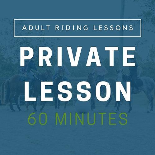 Adult Private Lesson (60min)