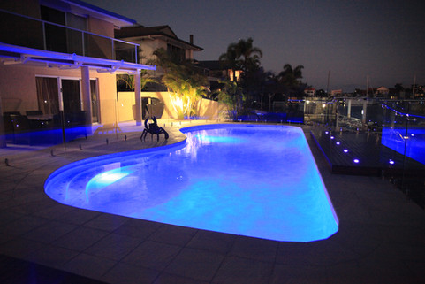 Award winning pool in Raby Bay, Brisbane.