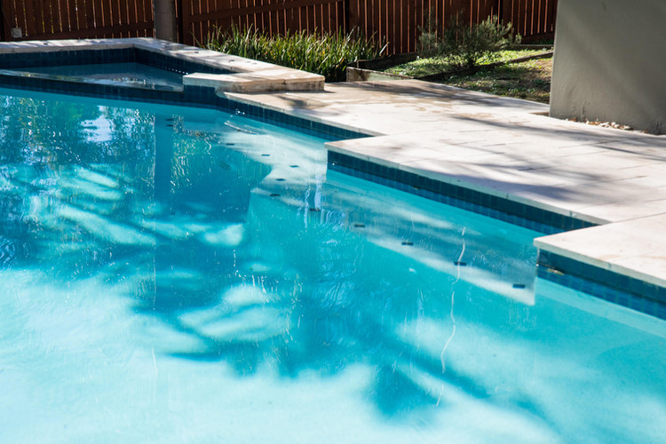 New coping on a Brisbane swimming pool.