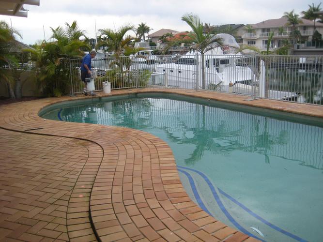 Raby Bay award winning pool before works