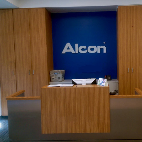 Alcon Laboratories Project: Reception Area