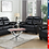 Thumbnail: IN STOCK NEW_2PCS TUFTED UPHOLSTERED BLACK SOFA AND LOVESEAT.