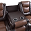 Thumbnail: IN STOCK NEW_ 2-TONE BROWN PREMIUM FAUX LEATHER DROP-CUP HOLDER RECLINING SOFA