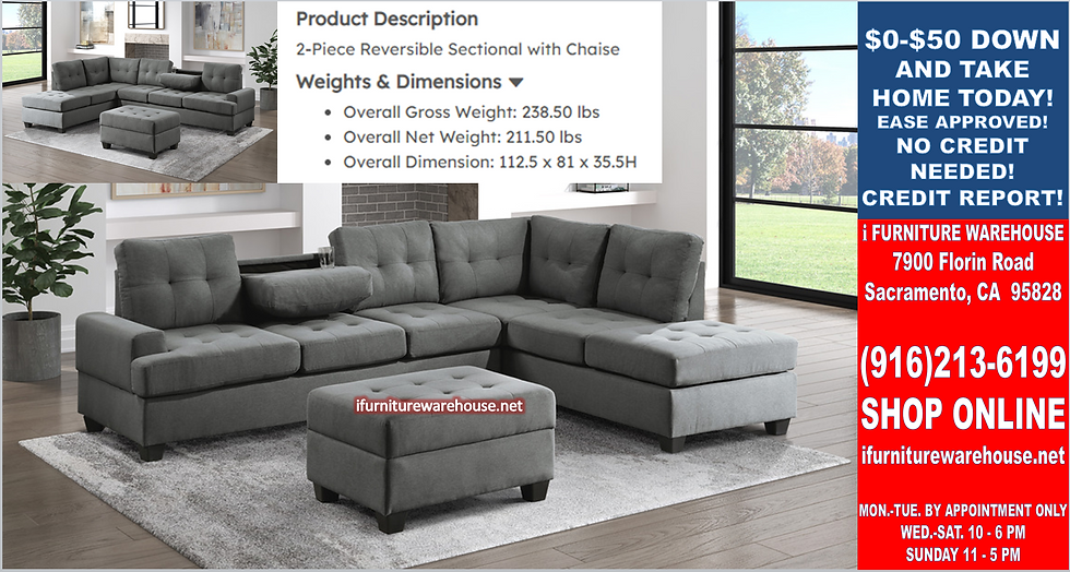 IN STOCK NEW_2PCS. DARK GRAY FABRIC CUP HOLDER REVERS. SECTIONAL SOFA ONLY.
