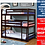 Thumbnail: IN STOCK CAPPUCCINO TRIPLE TWIN/TWIN/TWIN BUNK BED ONLY.