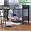 Thumbnail: IN STOCK NEW_TRIPLE TWIN/TWIN/TWIN BUNK BED WITH DESK/ LOFT BED