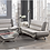 Thumbnail: IN STOCK NEW_2PCS GRAY/BEIGE CONTEMPORARY SOFA, LOVESEAT/ TWO TONE.