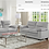 Thumbnail: IN STOCK NEW_2PCS GRAY 100% POLYESTER SOFA AND LOVESEAT.
