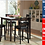 Thumbnail: In Stock New_40x40 Square Counter Height Dining Table and 4 Chairs