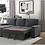 Thumbnail: IN STOCK NEW_2PCS CHARCOAL CHENILLE LSF SECTIONAL SOFA SLEEPER PULL-OUT