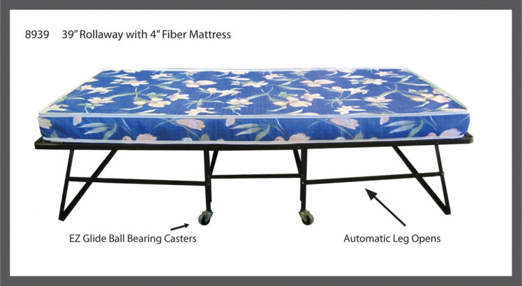 """48"""" ROLLAWAY BED WITH 4"""" MATTRESS"""