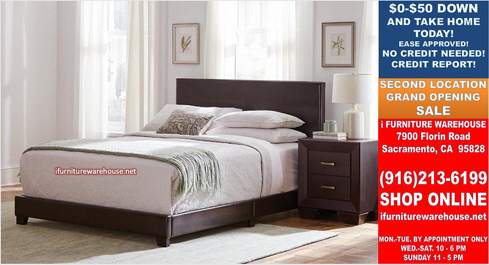IN STOCK NEW_ BROWN UPHOLSTERED QUEEN BED ONLY/  BOX SPRING REQUIRED.