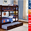 Thumbnail: IN STOCK NEW_TWIN/TWIN BUNK BED WITH TRUNDLE IN CHERRY FINISH