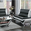 Thumbnail: IN STOCK NEW_2PCS BLACK/WHITE CONTEMPORARY SOFA, LOVESEAT/ TWO TONE.