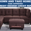 Thumbnail: IN STOCK NEW_ 3PCS LINEN FABRIC BROWN SECTIONAL SOFA&STORAGE OTTOMAN