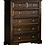 Thumbnail: IN STOCK NEW_ESPRESSO FINISH 6 DOVETAIL DRAWER WITH BALL BEARING TALL CHEST ONLY
