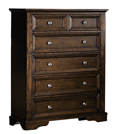 IN STOCK NEW_ESPRESSO FINISH 6 DOVETAIL DRAWER WITH BALL BEARING TALL CHEST ONLY