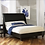 Thumbnail: In Stock Black_Eastern King Bed Only with Nail Head Accent.
