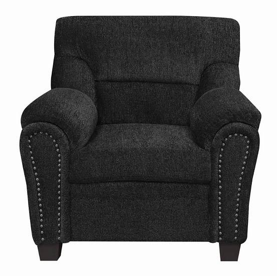 IN STOCK NEW_DARK GRAY NAIL HEAD ACCENT CHAIR SOFA AND LOVESEAT/ NOT INCLUDED.