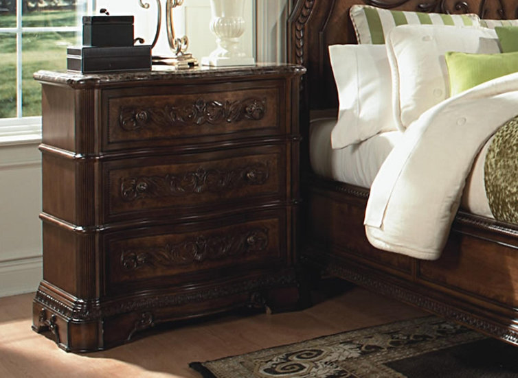 IN STOCK NEW_REAL MARBLE TOP NIGHTSTAND