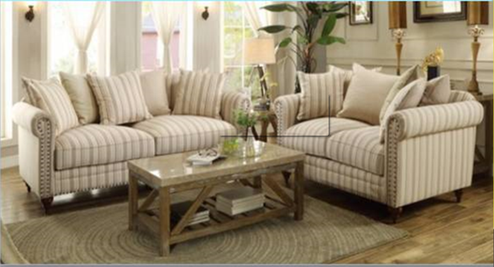 IN STOCK NEW_2PCS SOFA AND LOVESEAT/ Feather down Seat Cushion