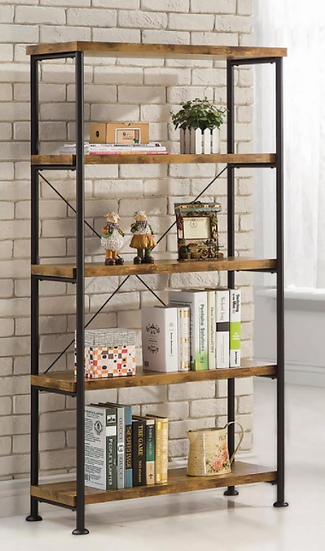 "IN STOCK NEW_ANTIQUE NUTMEG/BLACK BOOKCASE 31.50""X14.25""X63"" HIGH"