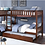 Thumbnail: IN STOCK NEW_5 TWIN BED, CHERRY CORNER BUNK BED W/TRUNDLE INCLUDED.
