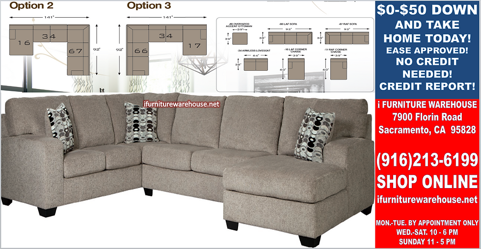 IN STOCK NEW_3PCS PLATIIUM STATIONARY SOFA SECTIONAL W/RAF CHAISE/PILLOW