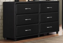 IN STOCK NEW_BLACK 6 DRAWERS DRESSER ONLY.