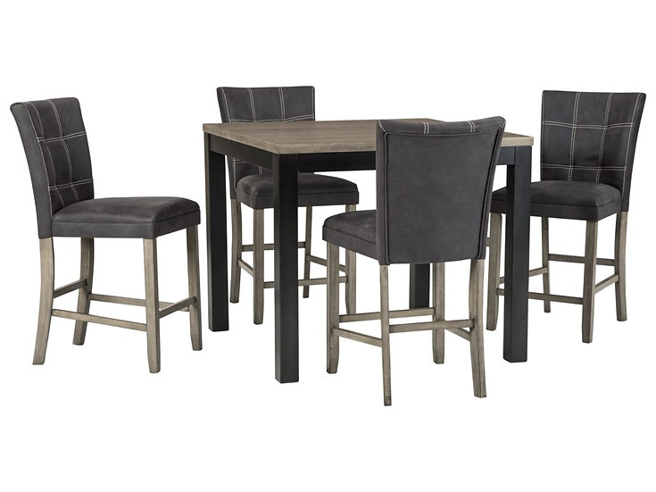 IN STOCK NEW_SQUARE DINING TABLE AND 4 UPHOLSTERED CHAIRS/ COUNTER HEIGHT STOOLS