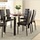 Thumbnail: IN STOCK NEW_7PCS BLACK CONTEMPO GLASS DINING TABLE AND 6 CHAIRS ALL