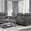 Thumbnail: IN STOCK NEW_2PCS  NEUTRAL BROWNISH GRAY CUP HOLDER RECLINING SOFA & LOVESEAT.