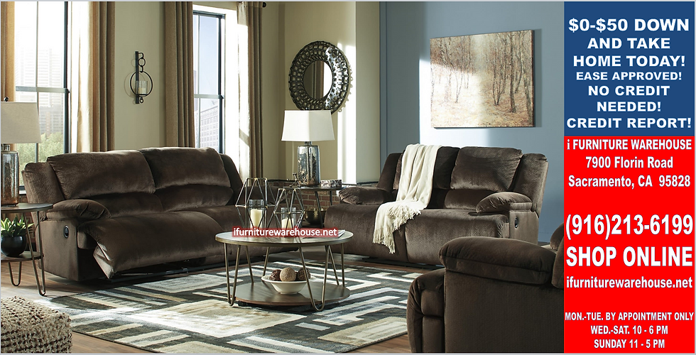 IN STOCK NEW_2PCS. CHOCOLATE MICRO. EXTRA-WIDE SEAT RECLINING SOFA AND LOVESEAT.