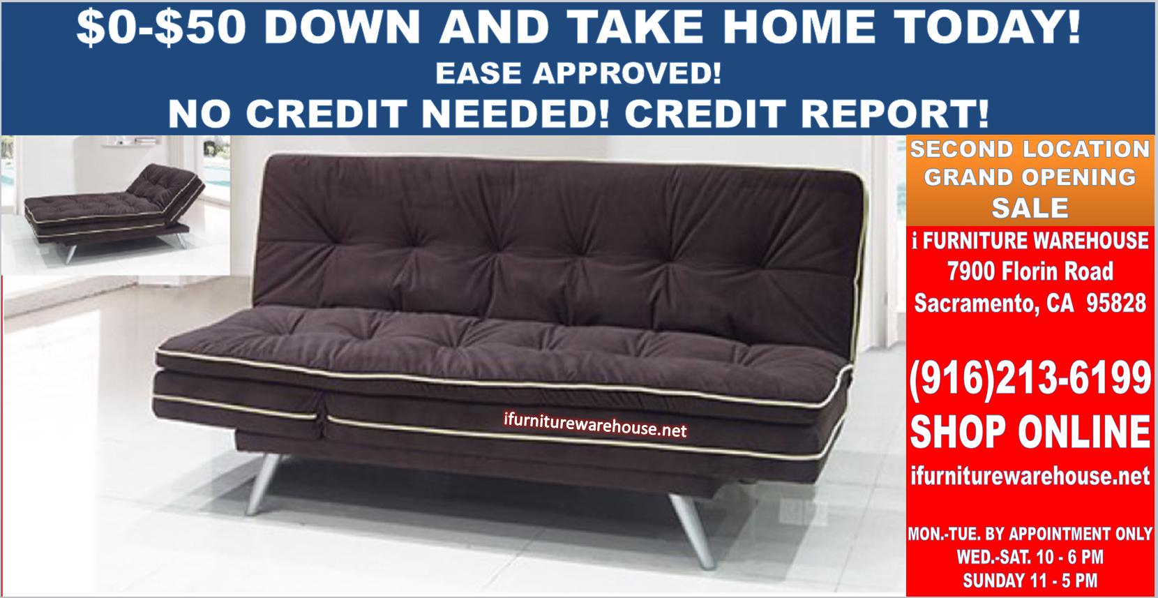 New 3 Way Dark Brown Sofa Bed Futon