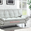 Thumbnail: IN STOCK NEW_CONTEMPORARY WHITE SOFA BED, FUTON, SLEEPER.